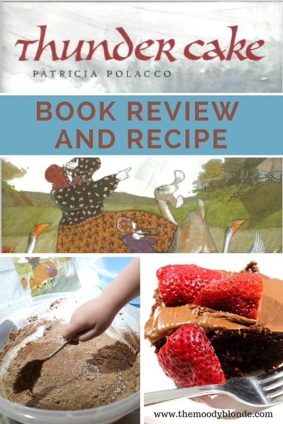 Thunder Cake Book review and recipe