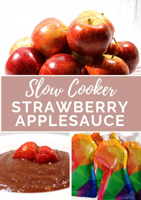 Slow Cooker Strawberry Applesauce Recipe