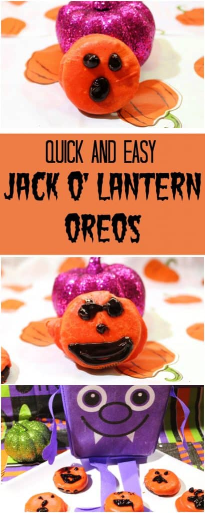 Quick and Easy Jack O'Lantern Oreos Collage