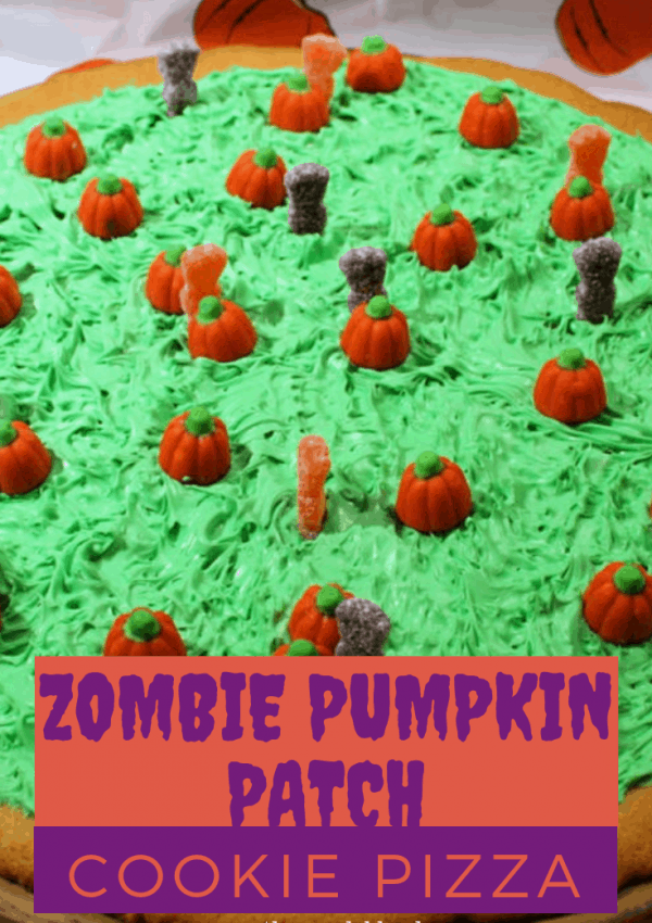 Zombie Pumpkin Patch Cookie Pizza