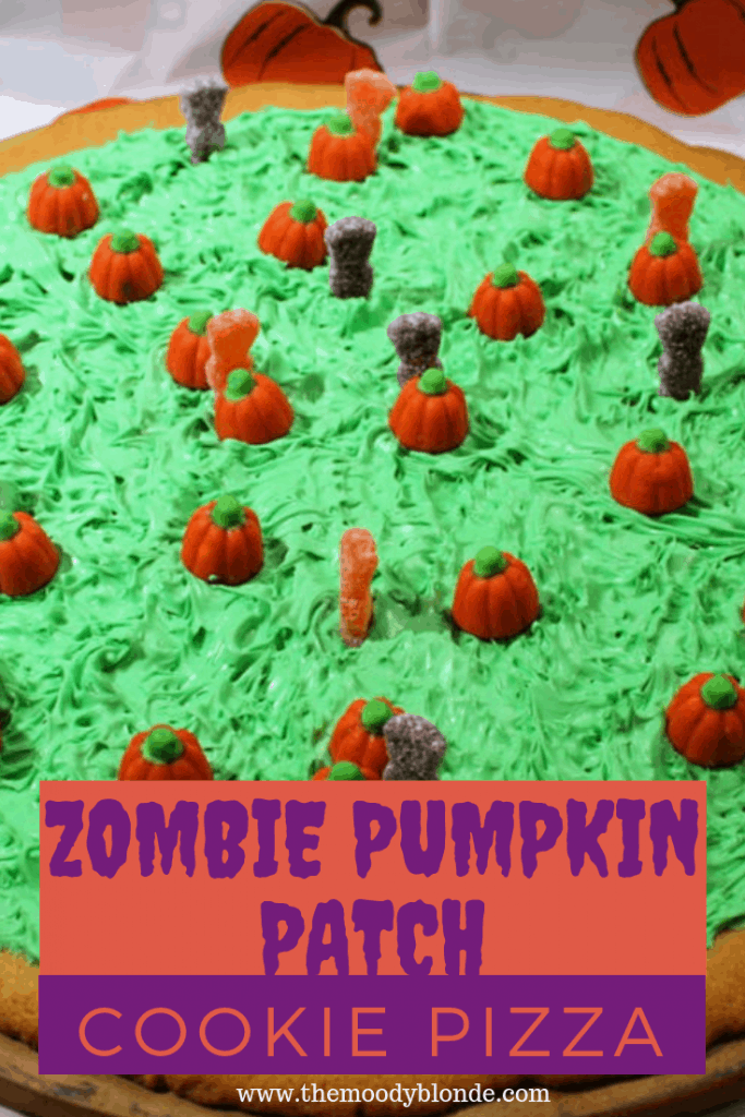 Zombie Pumpkin Patch Cookie Pizza Recipe Pinterest Image