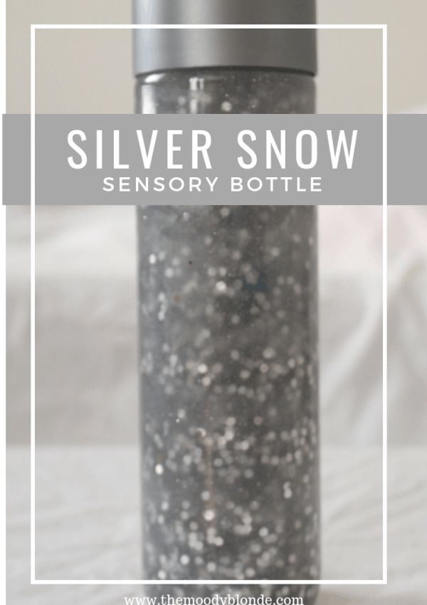 How to Make a Silver Snow Sensory Bottle