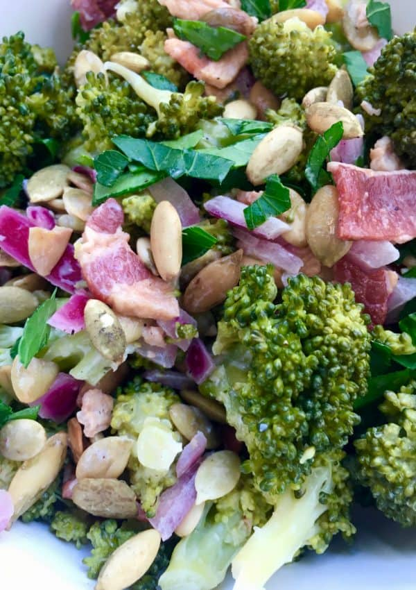 Mayo-Free Broccoli Bacon Salad Recipe