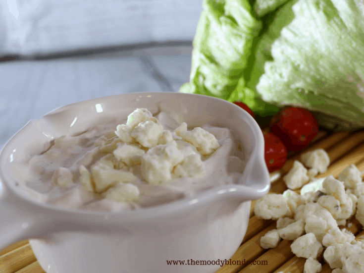 Creamy Blue Cheese Salad Dressing and Dip