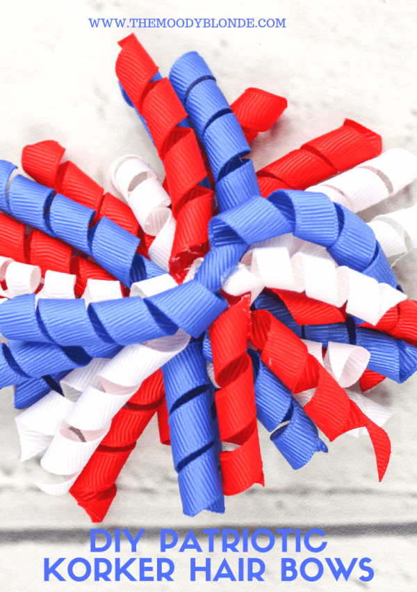 DIY Red, White, and Blue Patriotic Korker Hair Bow Tutorial