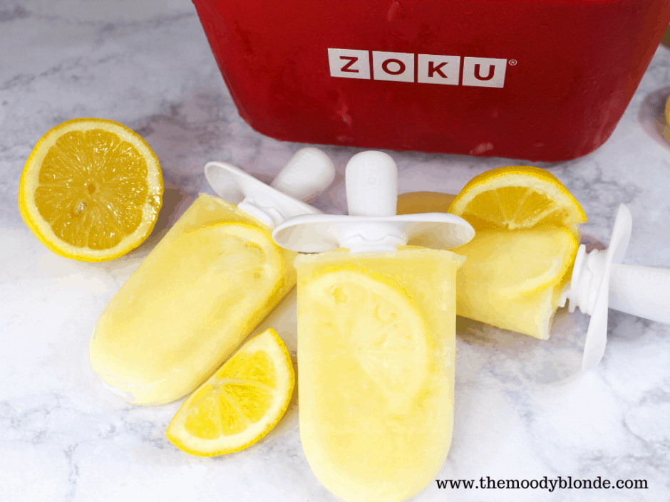 Yummy lemonade ice pops with zoku quick pop maker