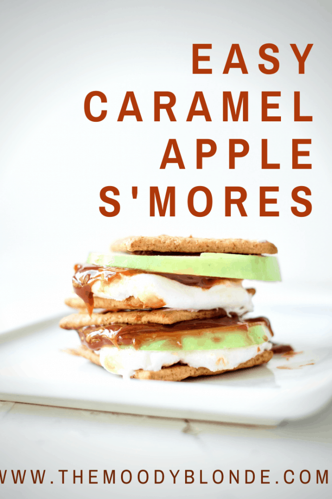 easy caramel apple s'mores