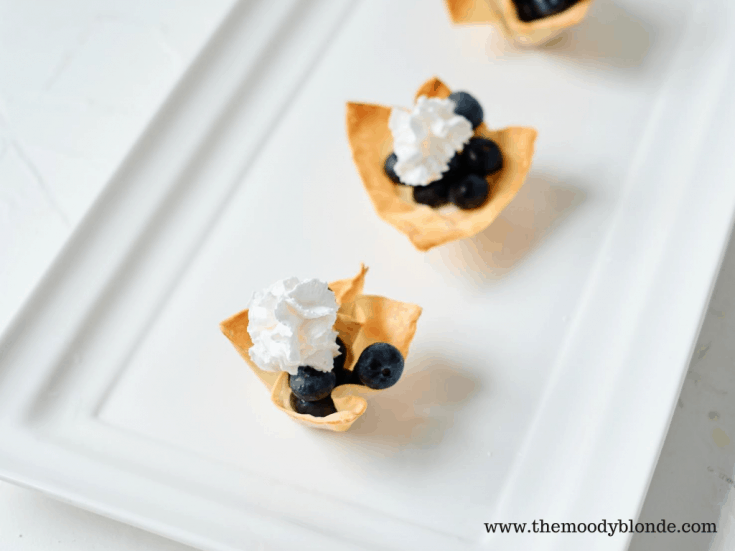 Easy Blueberry Wonton Pies