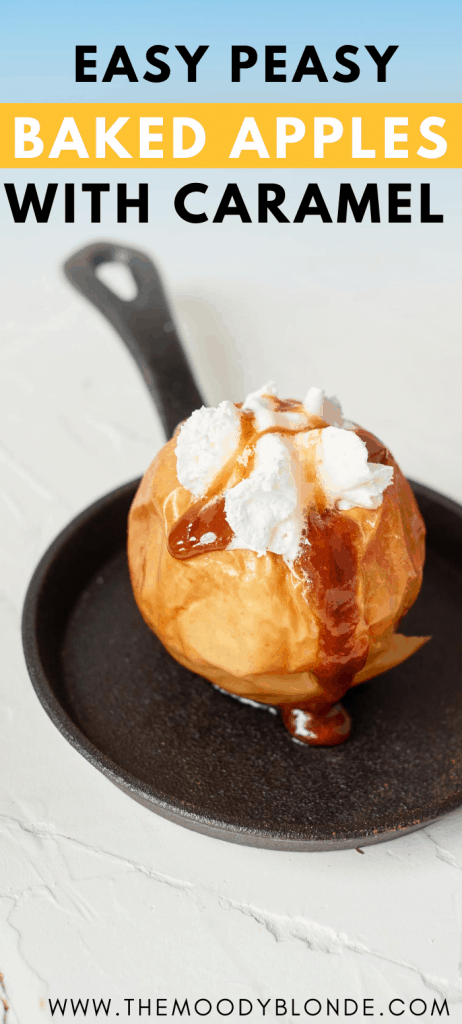 Easy baked apples with caramel sauce