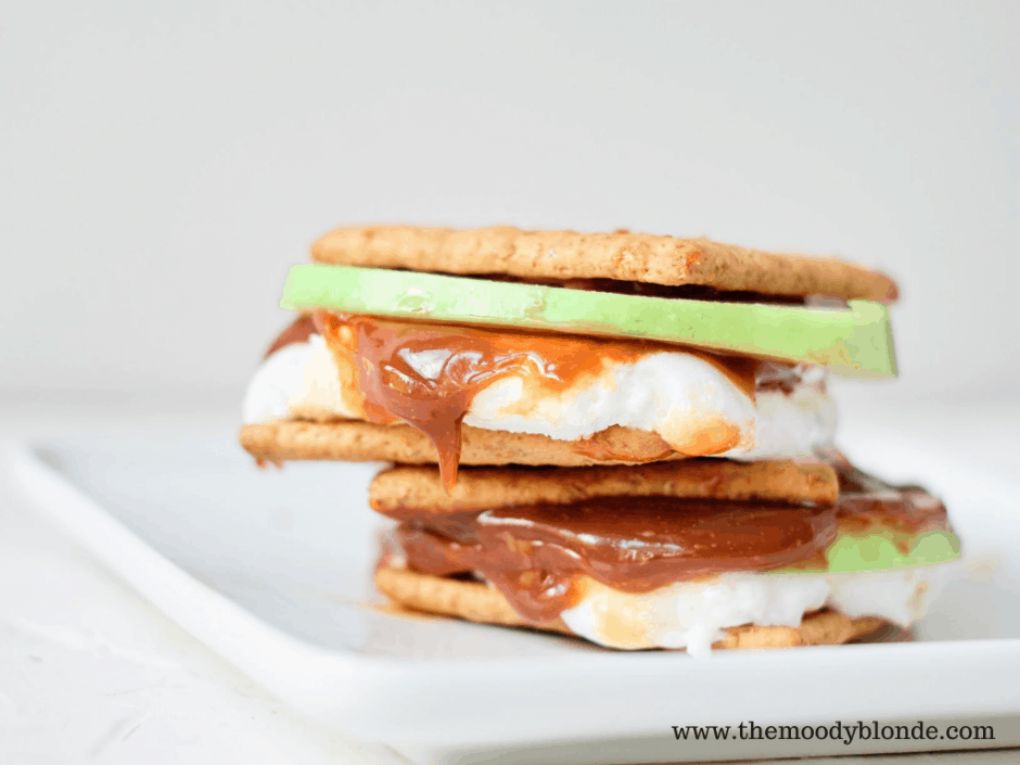 easy and delicious caramel apple smores