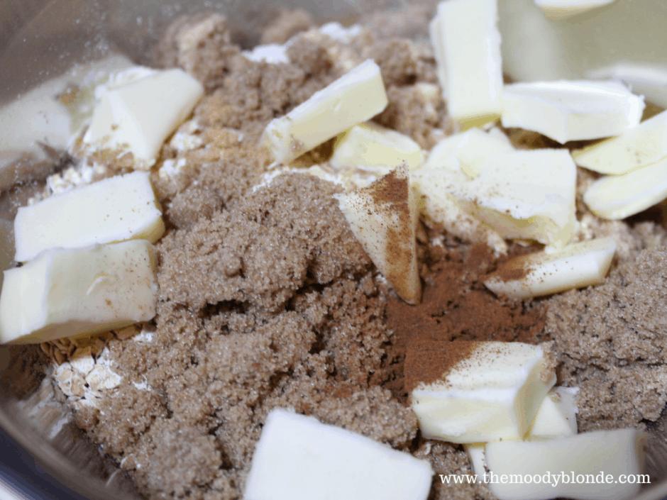 Instant Pot Apple Crisp process 1