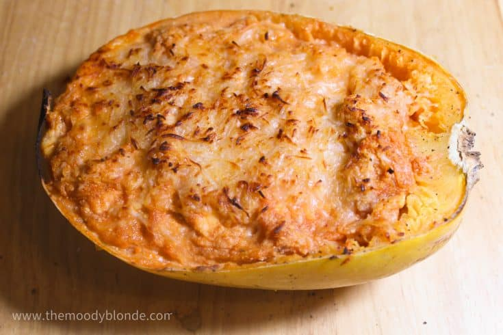 instant pot spaghetti squash boats finished
