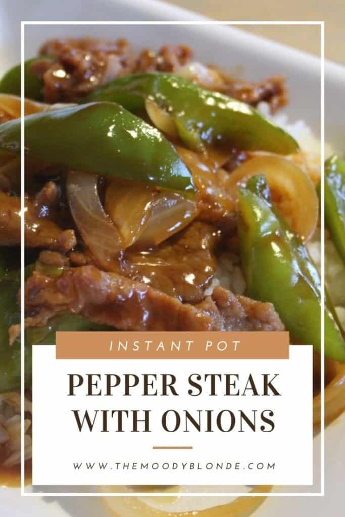 instant pot pepper steak with onions