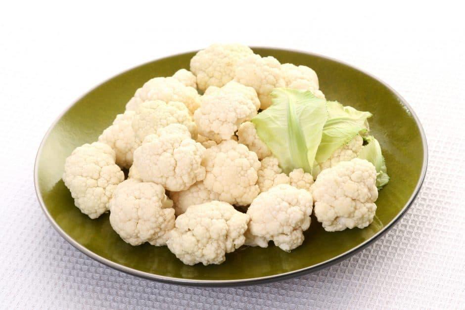 steamed cauliflower florets