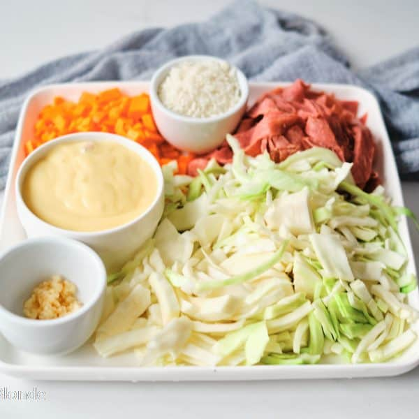 Corned beef and cabbage casserole ingredients