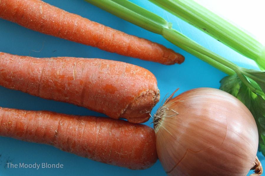 Ingredients for Instant Pot Vegetable Broth