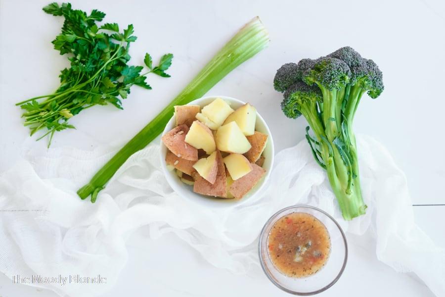 broccoli and potato salad ingredients