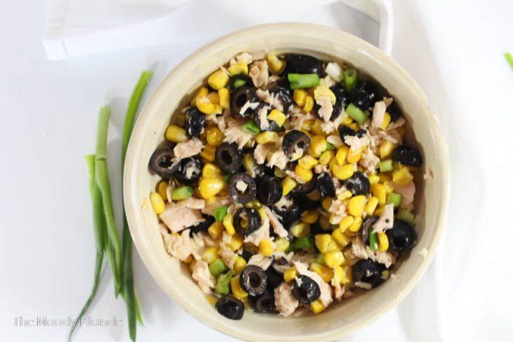 Corn Tuna Salad in a bowl