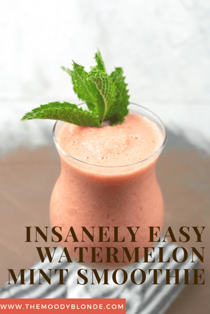 easy watermelon mint smoothie