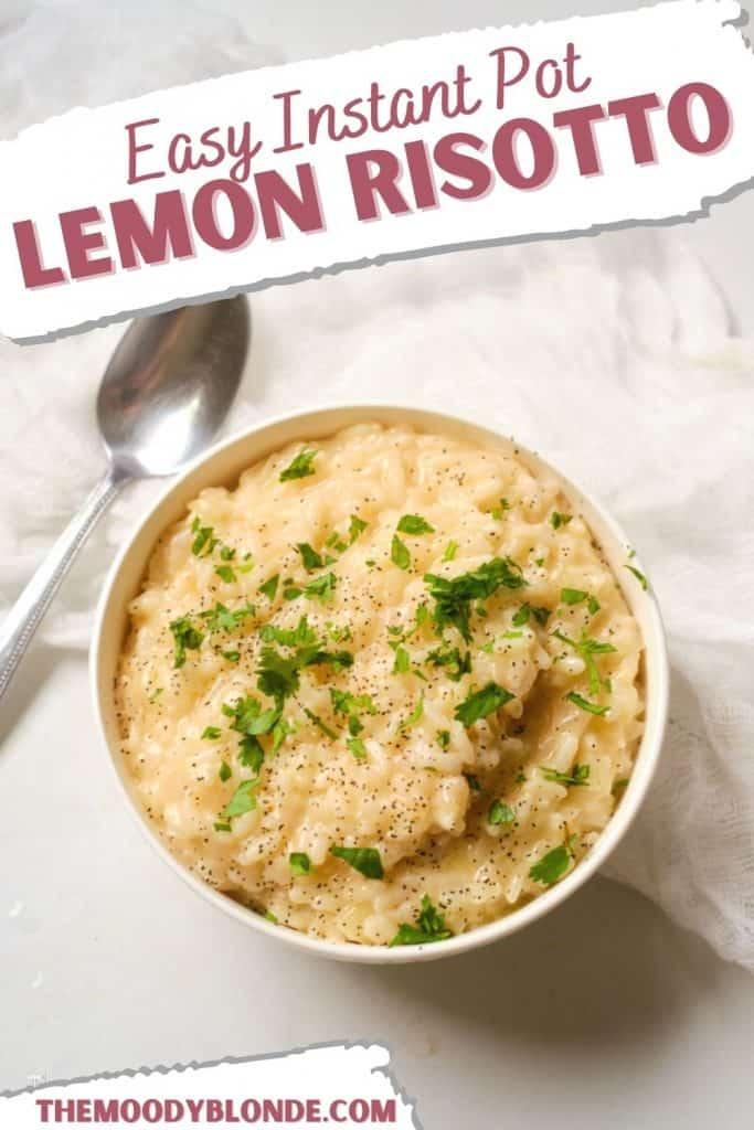 Easy Instant Pot Lemon Risotto